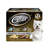Cesar Slices Food Trays for Dogs - NY Strip - Chicken & Vegetable - 100g (12 Pack)