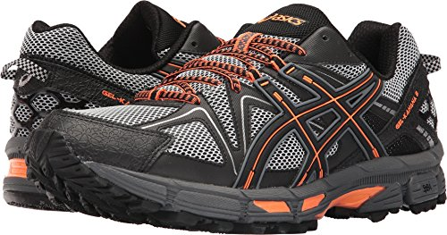 ASICS Men's Gel-Kahana 8 Running Shoe, Black/Hot Orange/Carbon, 10.5 Medium US