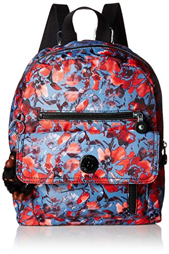 Kipling Carrie Backpack with Printed Straps,  Festive Floral, One Size