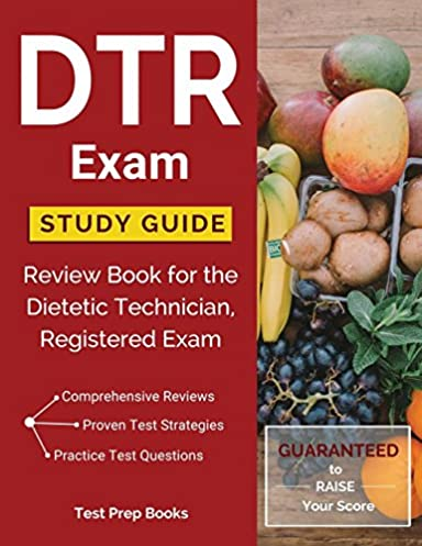 dtr exam study guide review book for the dietetic technician rh amazon com DTR Test Sample DTR Exam Review Book
