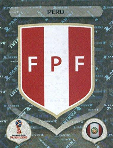 Card Russia (2018 Panini World Cup Stickers Russia #232 Team Logo Peru Foil Soccer Sticker)