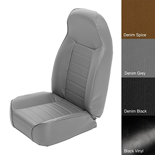 Bucket Seat Trim Parts - Smittybilt 44911 Denim Gray Standard Bucket Front Seat