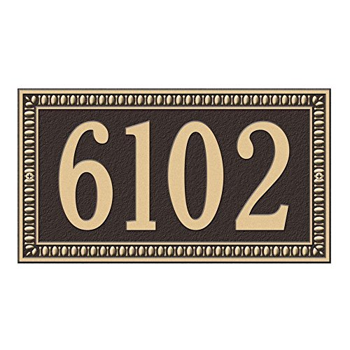 (Whitehall Products Egg and Dart Rectangular Bronze/Gold Standard Wall One Line Address Plaque )