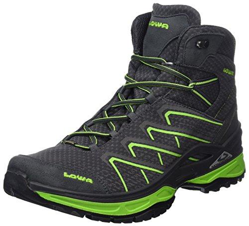 Lowa Ferrox Evo GTX Mid, Stivali da Escursionismo Alti Uomo Grigio (Graphite/Limone 9706)