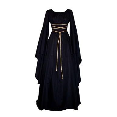 5b89d737087c1 Amazon.com: Pevor Women Renaissance Medieval Gothic Victorian Halloween Costume  Cosplay Dress: Clothing