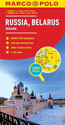 Russia, Belarus Marco Polo Map (Ukraine)