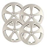 Hubcaps.com - Premium Quality - Toyota Prius Replica Hubcaps, 15'' Silver Replica Wheel Covers, Heavy Duty Construction, Factory Replacement (Set of 4)
