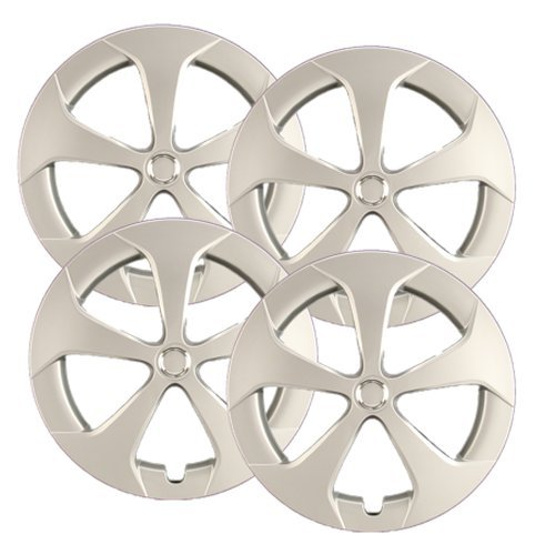 Hubcaps.com - Premium Quality - Toyota Prius Replica Hubcaps, 15' Silver Replica Wheel Covers, Heavy Duty Construction, Factory Replacement (Set of 4) 15 Silver Replica Wheel Covers