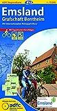 ADFC-Regionalkarte Emsland Grafschaft Bentheim mit Tagestouren-Vorschlägen, 1:75.000, reiß- und wetterfest, GPS-Tracks Download: Mit Internationalem Naturpark Moor (ADFC-Regionalkarte 1:75000)