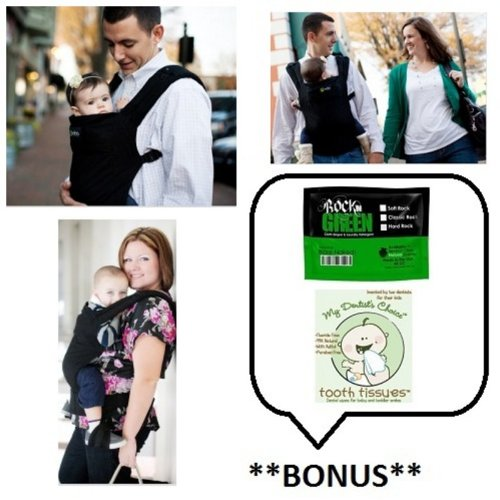 Boba Baby Carrier 3G (Color: Montenegro/Black) with **BONUS** Samples of Rockin Green Soap/Detergent and Tooth Tissues!, Baby & Kids Zone