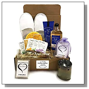 Bath & Body Aromatherapy - Bath & Body Spa Gift Baskets - Aromatherapy Gift Set - Because You Deserve It -Stress Relief -or- Energizing -or- Sleep Available (Deluxe - Sleep Lavender Cedarwood)