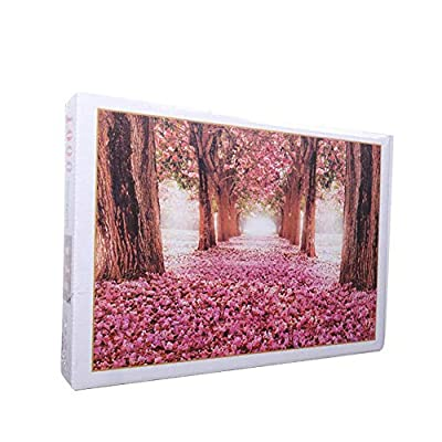 ARTIFUN 1000 Pieces Jigsaw Puzzles: Romantic Landscape Cherry Tree Paper Puzzle Brain Game Funny Toys Adults Kids Child Family, 19.7 X 29.5 inch: Toys & Games