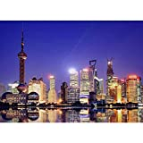 Jigsaw Puzzles for Adults Kids - Shanghai Night Scene, Game Interesting Family Educational Toy Picture Gift, 300/500/1000/1500/2000/3000 Pieces Puzzle (Size : 3000pieces)