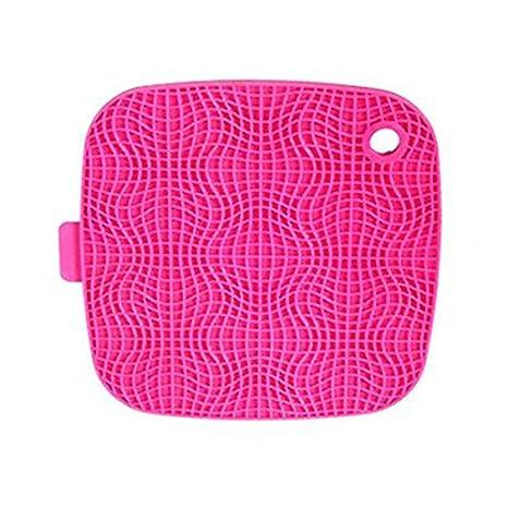 Silicona PIXNOR en salvamanteles agarraderas y olla cubre sartenes (colour rosa)