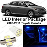 Splendid Autos Ultra Blue LED Toyota Corolla Interior Package Deal 2000-2011 (6 Pieces)