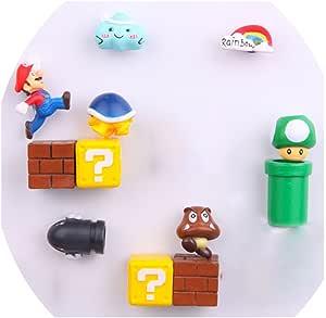 12 Pack Super Mario Fridge Magnets For Kids Decorative Refrigerator Locker Magnets Kitchen School Office Fun Decoration
