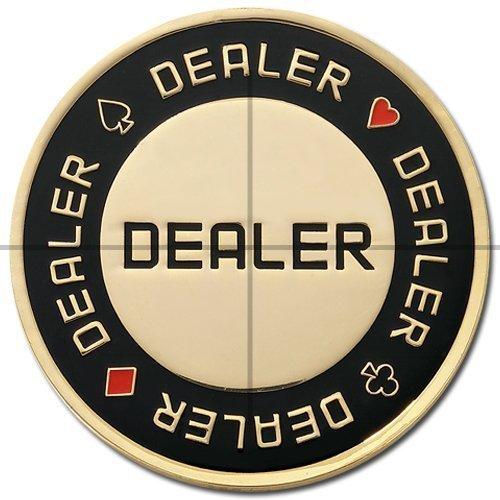 ClubKing Ltd. Kartenschutz, Dealer Chip, Schwarz / Gold