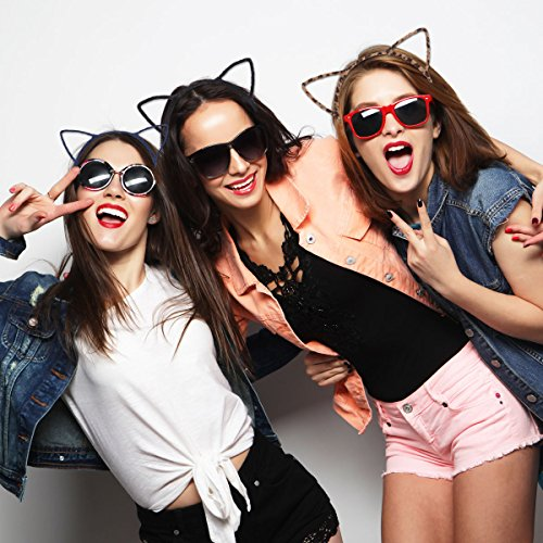 Unomor Cat Ears Hair Headband Fluffy Hair Hoop for Party and Daily Accessories, 12 Pieces with 12 Colors by Unomor (Image #5)