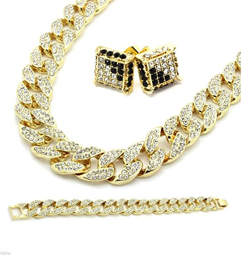 14k-gold-finish-15mm-30-fully-cz-iced-out-hip-hop-miami-cuban-chain-9-bracelet