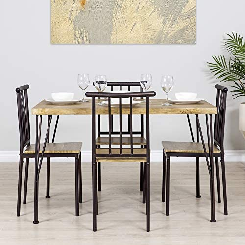 home, kitchen, furniture, kitchen, dining room furniture,  table, chair sets 10 image Best Choice Products 5-Piece Indoor Modern Metal in USA