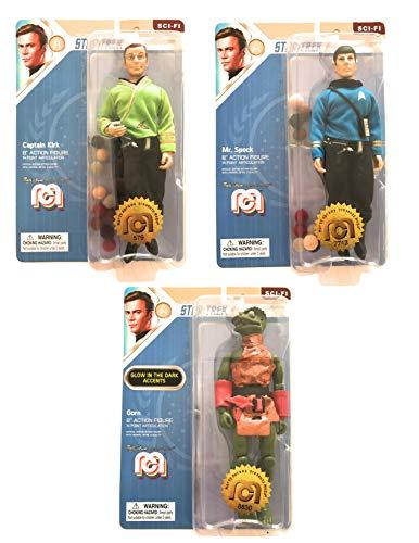 Mego Wave 6 Star Trek Set - Captain Kirk - Mr Spock - Gorn