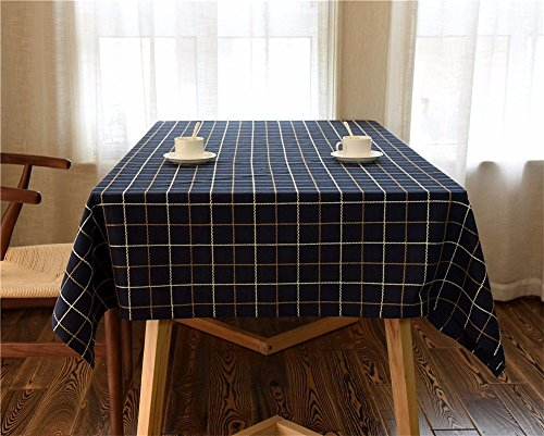 HOMEE Summer cloth cotton plaid table tablecloth dust cloth Christmas decorations,A,120X180cm by HOMEE