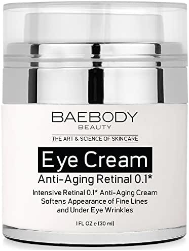Baebody Eye Cream Retinal 0.1 for Fine Lines, Wrinkles, Dark Circles, and Bags - Intensive Anti-Aging Cream for Under and Around Eyes - 1 fl oz
