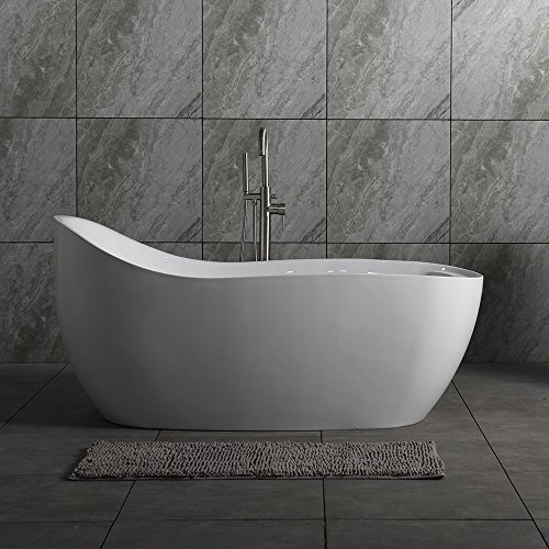 Woodbridge Deluxe Free Standing Bathtub, B-0033 Air Bubble Tub