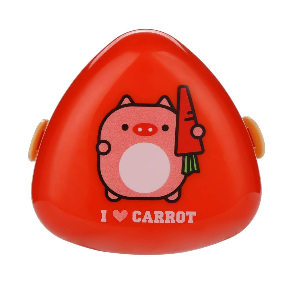 NUWFOR Cartoon Shape Lunch Box Food Container Storage Box Portable Bento Box Red