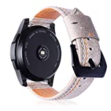 Leather Band for Samsung S3 Smart Watch Series,Oucan Business Replacement Bracelet Mental Adjustable Replacement Strap Wrist Band Women Men