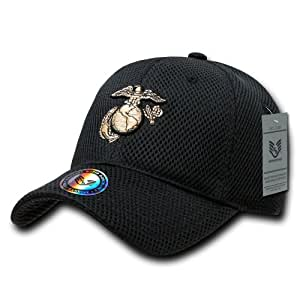 Rapiddominance Marines Air Mesh Military Cap, Black