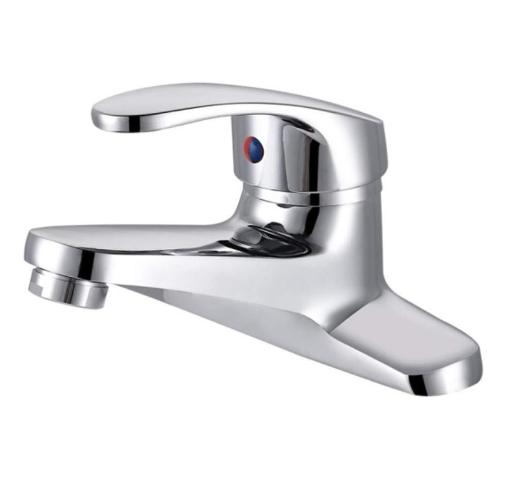 Einhebel Messing Spüle Edelstahl 360° Drehbar Wasserhahn 2-Loch-Waschtischarmatur Vollkupfer-Waschtisch-Waschtisch Mit Kaltem Und Heißem Wasserhahn