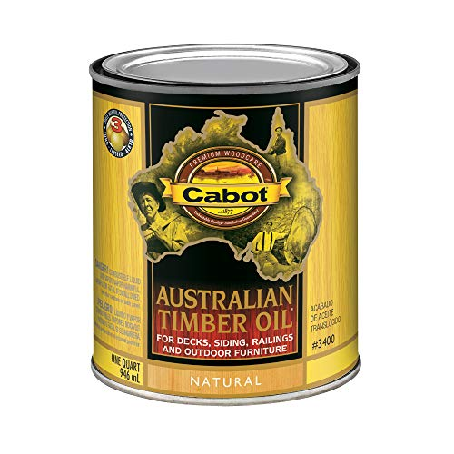 (CabotStain 04-3400 Australian Timber Oil Penetrating Formula, 1 Quart, Natural)