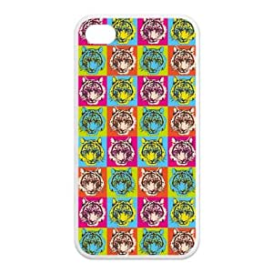 Tiger TPU Snap On Case Cover For Iphone 4 4s-Black/White