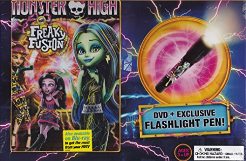 Monster High Freaky Fusion Dvd + Exclusive Flashlight Pen!