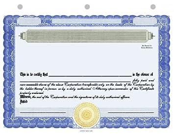 20 corpkit standard wording corporation stock certificates standard border corporation green