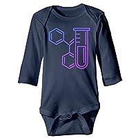 KIDDDDS Infant Chemistry Icon Glass Tube Long Sleeve Romper Onesie Bodysuit Jumpsuit