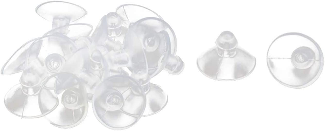 Rubber Anti-Collision Table Desk Glass Sucker Hanger Pads Suction Cups 18mm Dia (Pack of 20)