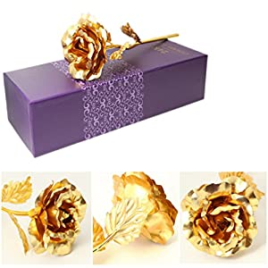 Heads Orchid Foil Plated Rose Gold Rose Wedding Decoration Flower Lover's Rose Artificial 120