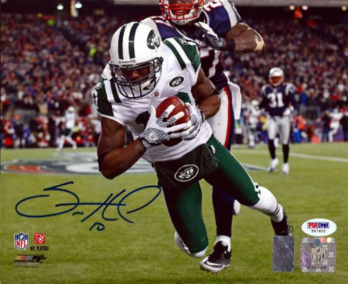 - SANTONIO HOLMES AUTOGRAPHED 8X10 PHOTO NEW YORK JETS PSA/DNA STOCK #59074