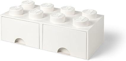 One size 2 cajones Room Copenhagen LEGO Ladrillo 8 pomos 9,4/l caja de almacenaje apilable Gris Oscuro