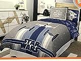 7-pc Star Wars QUILT / SHAMS & SHEET Set - QUEEN QUILT / SHEET Set (Stormtrooper Millennium Falcon)
