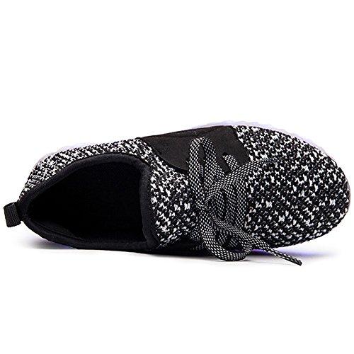 Charging USB Black3 Boys LED Shoes Girls Flashing Light LakeRom Luminous Sneakers amp; Lovely 084Z7Sxqa