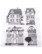 Rubber Stamp,Scrapbook Photo Cards,Clear Transparent Stamps House,7.08 x 5.9Inch