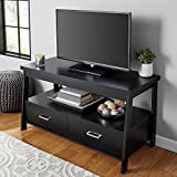 Mainstays Logan TV Stand for TVs up to 47', True Black Oak Finish