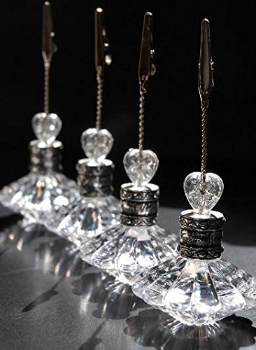 Richland Crystal Place Card & Table Number Holders Set of 24 by Richland