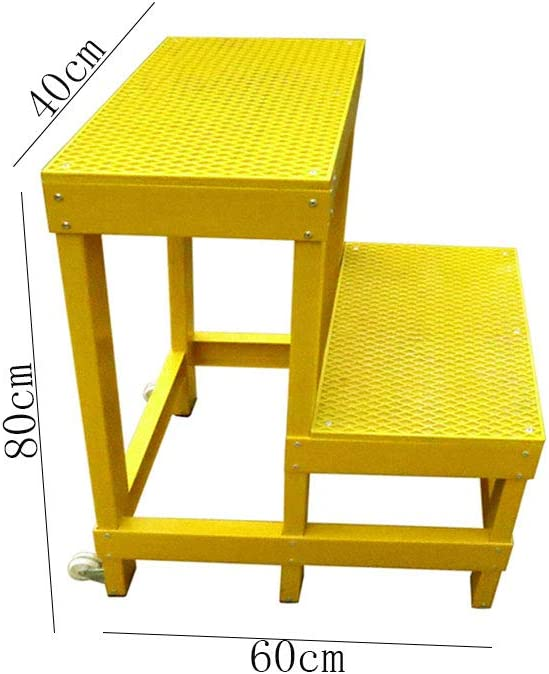 TLTLTD Taburete De Doble Paso Para Electricista, Aislamiento Aislado De Trabajo Escalera De Paso De Aislamiento 40 × 60 × 80 Cm, Amarillo: Amazon.es: Bricolaje y herramientas