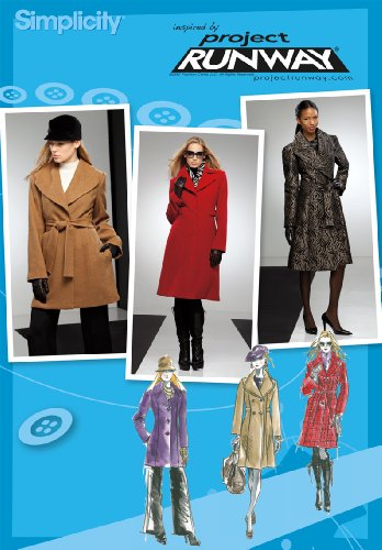 Simplicity Project Runway Pattern 2311 Misses Miss Petite Coat in Two Lengths, Sizes 4-6-8-10-12