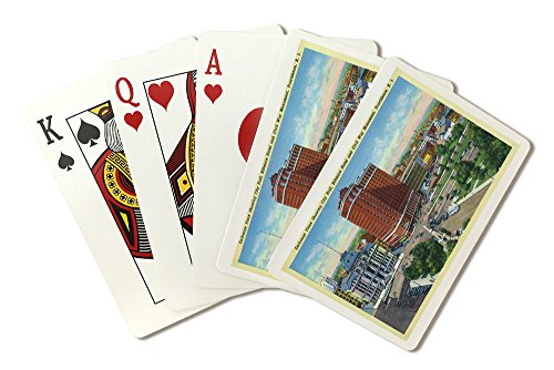 Providence, RI - Exchange Place with City Hall, Biltmore Hotel, Civil War Monument (Playing Card Deck - 52 Card Poker Size with Jokers) (Providence Place)