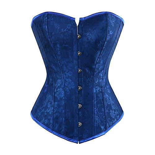 Valin FOB2765 Mujer Azul Lencería y ropa interior Corsés y bustiers,L
